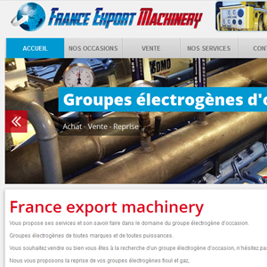 FRANCE EXPORT MACHINERY
